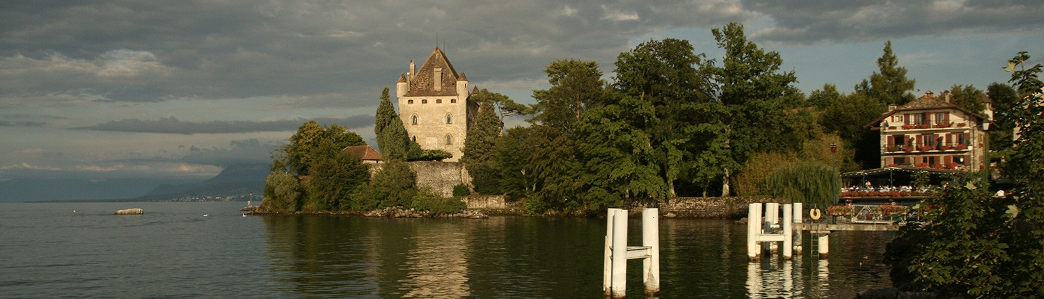 Yvoire castle and harbour