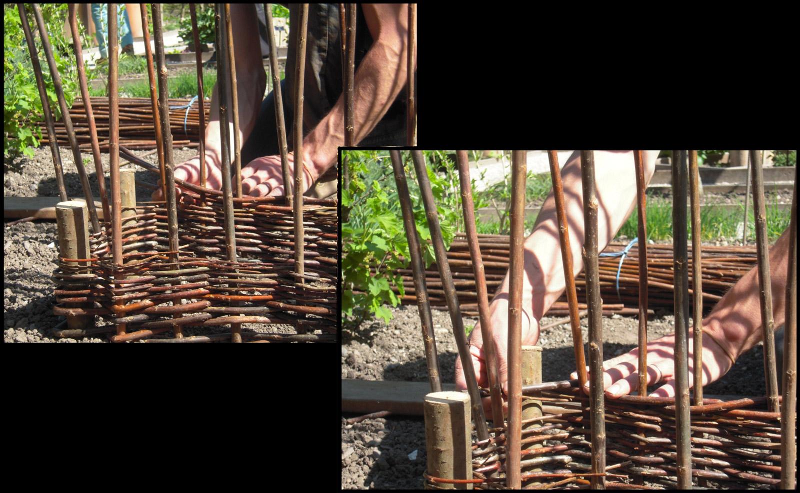 La vannerie investit le jardin le jardin des cinq sens for Le jardin des epilobes