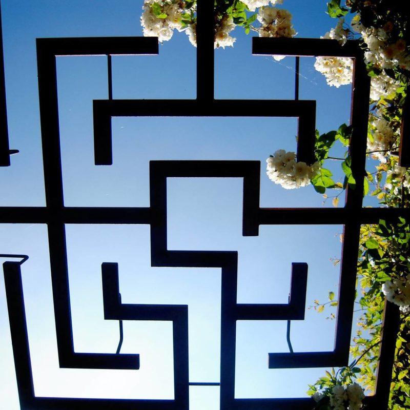 Ferronerie d\'art dans le Jardin - Le Jardin des Cinq Sens - Yvoire