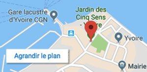 Plan d'accès - Jardin des Cinq Sens - 74140 Yvoire
