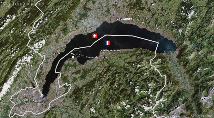 Le Lac Léman - vue satellite
