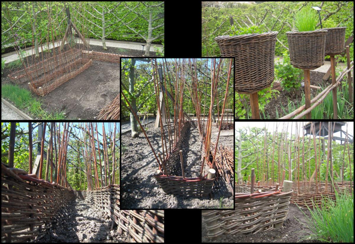 La vannerie investit le jardin le jardin des cinq sens for Jardin 5 esquinas